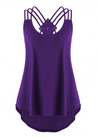 Womens Plus Size • Tank with Criss Cross Back