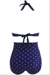 Bathers • Plus Size High Waist Swimsuit • Pink Polka Dot