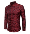 Mens Dress Shirt • Burgundy Camouflage