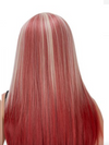 Cosplay Wig • Straight with Middle Part • Red and White