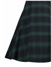 Womens Vintage Style Dress • Black and Green Plaid