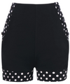 High Waisted Shorts • Polka Dot Trim