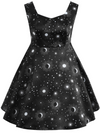 Womens Cosmic Skater Dress • Plus Size