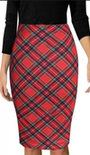 Pencil Skirt • Tartan