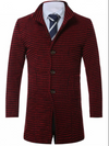 Wool Coat • Black and Red Houndstooth