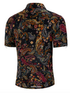 Men's Paisley and Floral Short Sleeve Shirt
