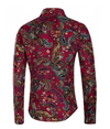 Vintage Style Paisley Shirt • Floral and Paisley Print • Red