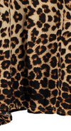 Plus Size • Leopard Print Asymmetric Top with Batwing Sleeve