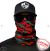 Face Shield/ Tubular Bandana • Fire Red Blackout Camo