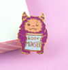 Lapel Pin • Book Monster • By Jubly Umph