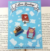 Lapel Pin Set • I Love Reading • By Jubly Umph