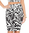 Womens Skirt and Crop Top Twin Set • Black and White
