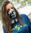 Face Shield/ Tubular Bandana • Black Tropical