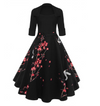 Womens Vintage Style Swing Dress • Blossom Print