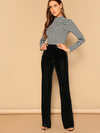 Womens Black Velveteen Pants
