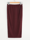 Rib Knit Sheath Skirt