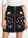 Botanical Embroidery Skirt