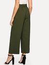 Womens Green Wide Leg Pants