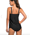 Twist Top Tankini Set Swimwear • Black