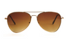 Sunglasses • Gold Aviator with Brown Lens