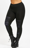 Womens Plus Size Leggings • Slashed Cosmic