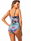 Womens Swimsuit • One Piece Tropical Print