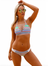 Womens Swimsuit • Coloured Striped Bikini