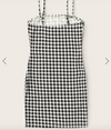 Womens Gingham Print Bodycon Dress