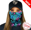 Face Shield / Tubular Bandana • Electric Floral