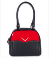 Liquorbrand Chevron Bowler Bag Red Glitter