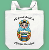 Jubly Umph Tote Bag • A Good Book is Always too Short