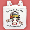 Jubly Umph Tote Bag • There's No Such Thing as Too Many Books