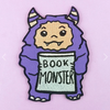 Jubly Umph Embroidered Patch • Book Monster