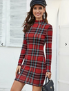 Womens Plaid Bodycon Dress