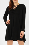 Lace Up Swing Dress Plus Size