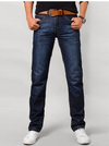 Men's Blue Jeans • Straight leg with Flap pocket