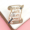 Jubly Umph Lapel Pin • Read Write Create Make