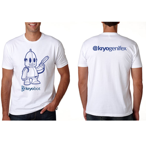 KryoBot Short Sleeve White T-shirt