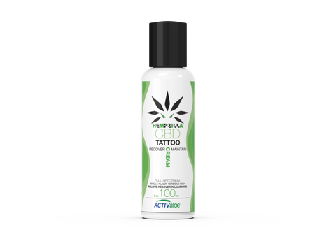 Hempzilla CBD Tattoo Recovery Cream