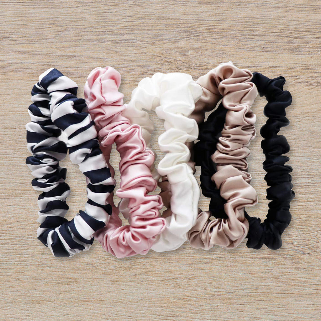 Slip Silk Midi Scrunchies, Mixed