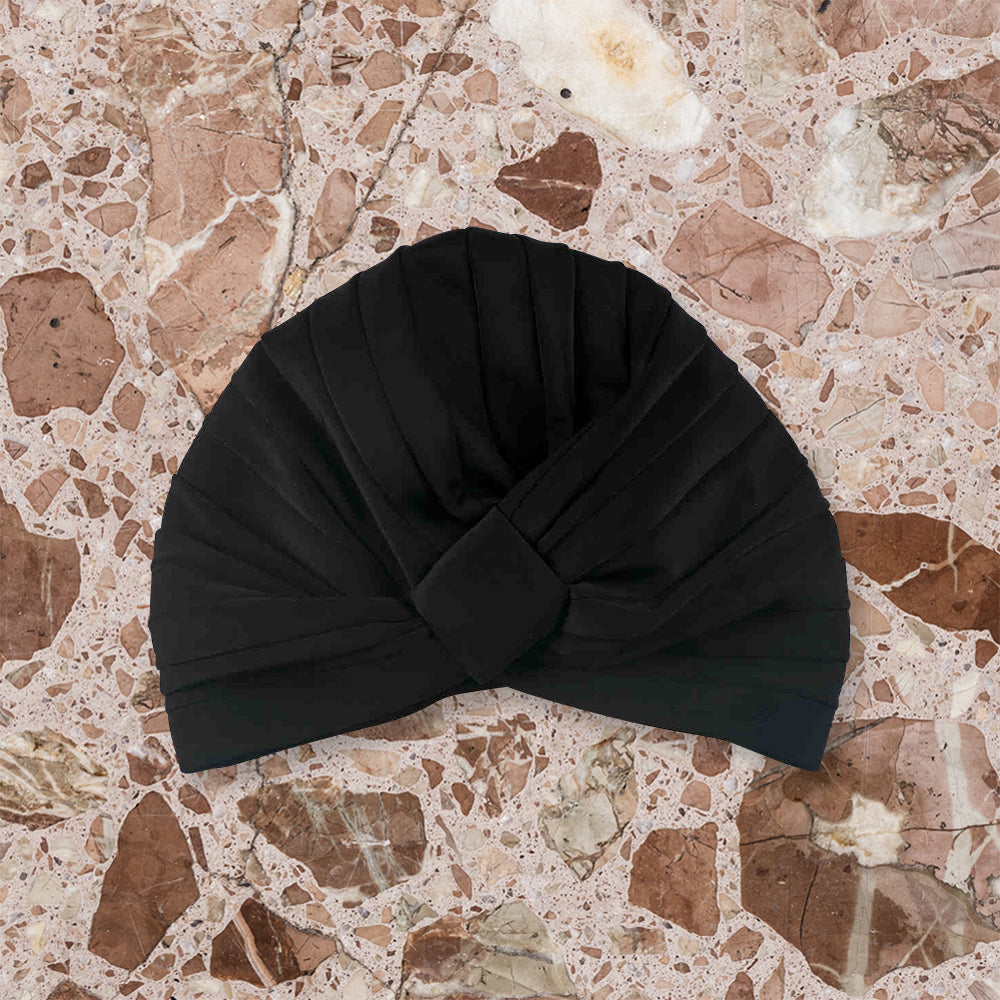 Louvelle Shower Turban Amelie, Black