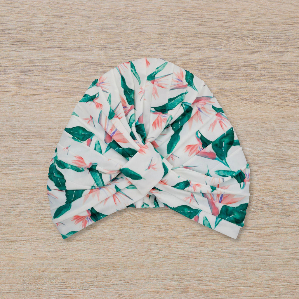 Louvelle Shower Turban Amelie, Hawaiian Bird of Paradise
