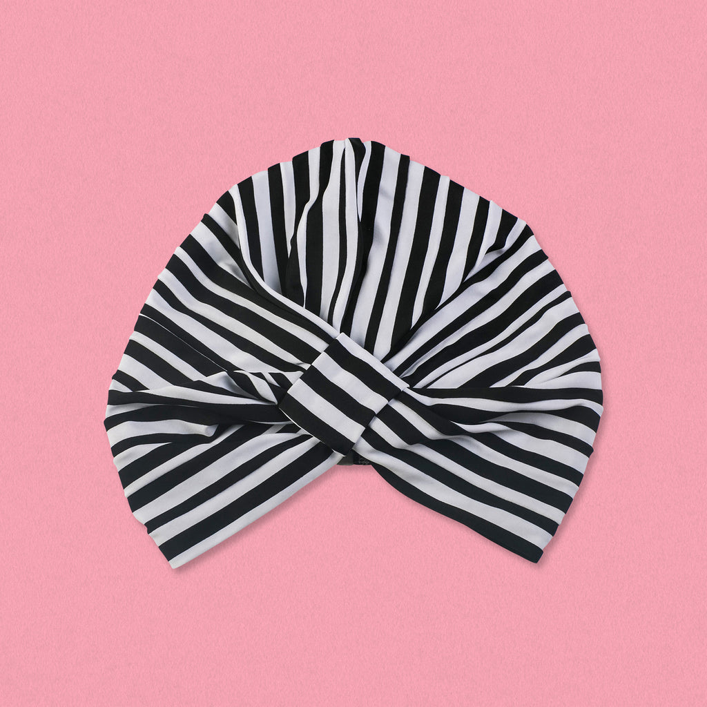Louvelle Shower Turban Amelie, Monochrome Stripe