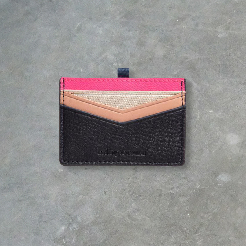 Arlington Milne Alexis Card Holder, Hot Pink / Navy