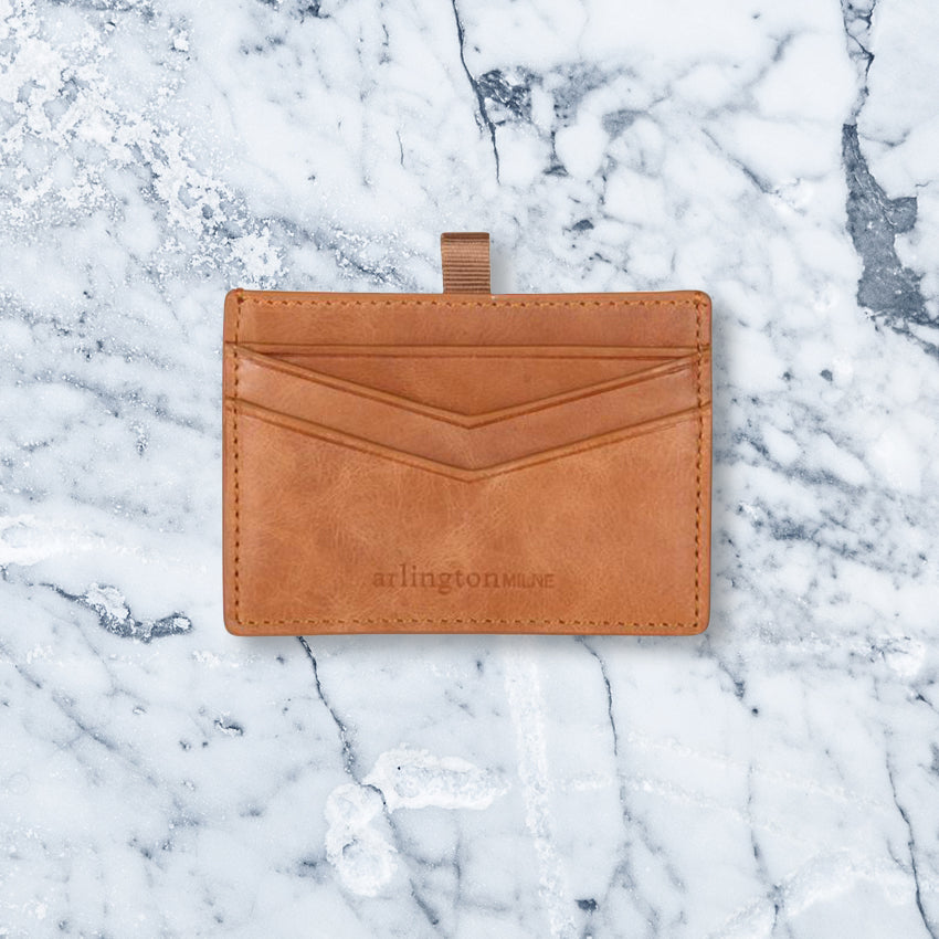 Arlington Milne Alexis Card Holder, Vintage Tan