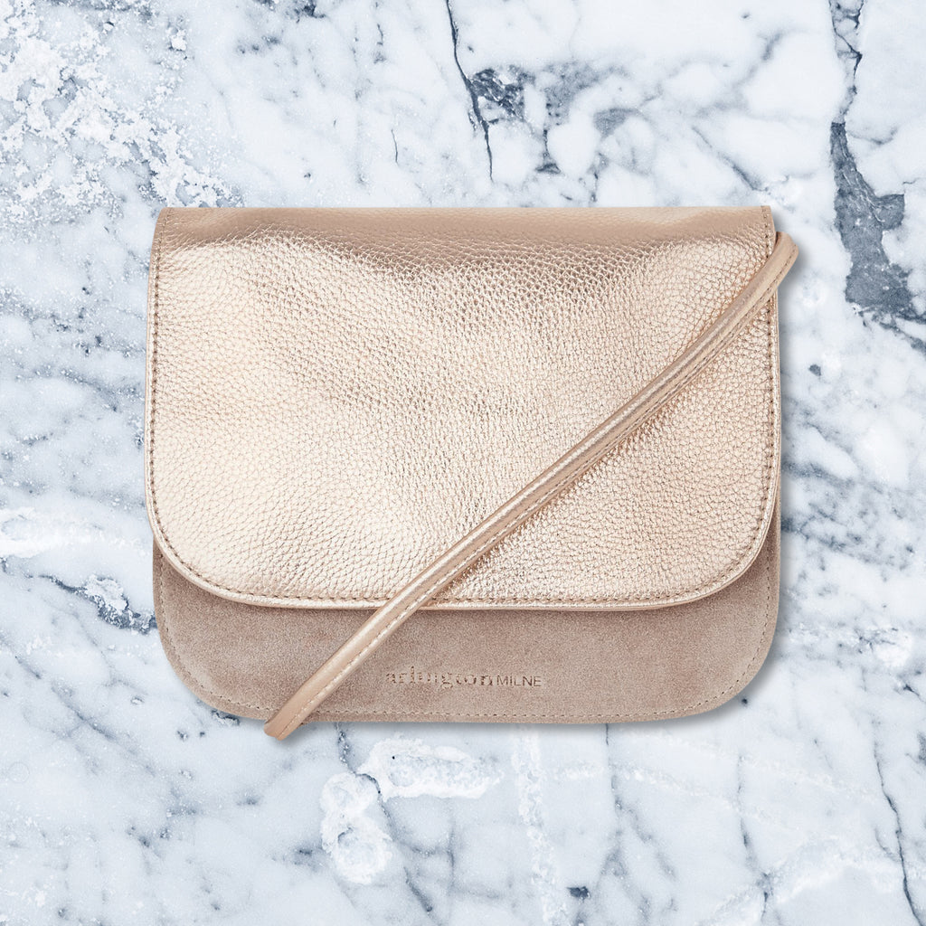 Arlington Milne Anna Crossbody Small, Rose Gold