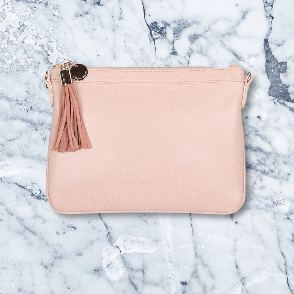 Arlington Milne Coco Clutch, Nude Blush