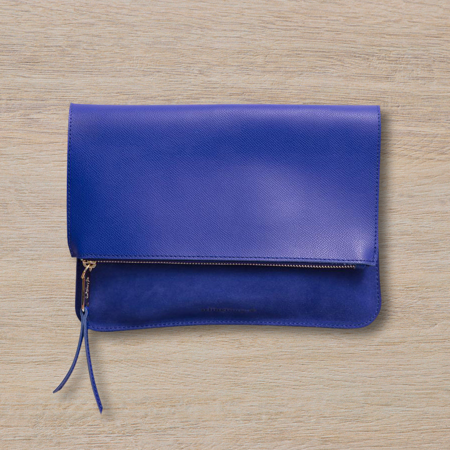 Arlington Milne Ella Fold Over, Cobalt Pebble