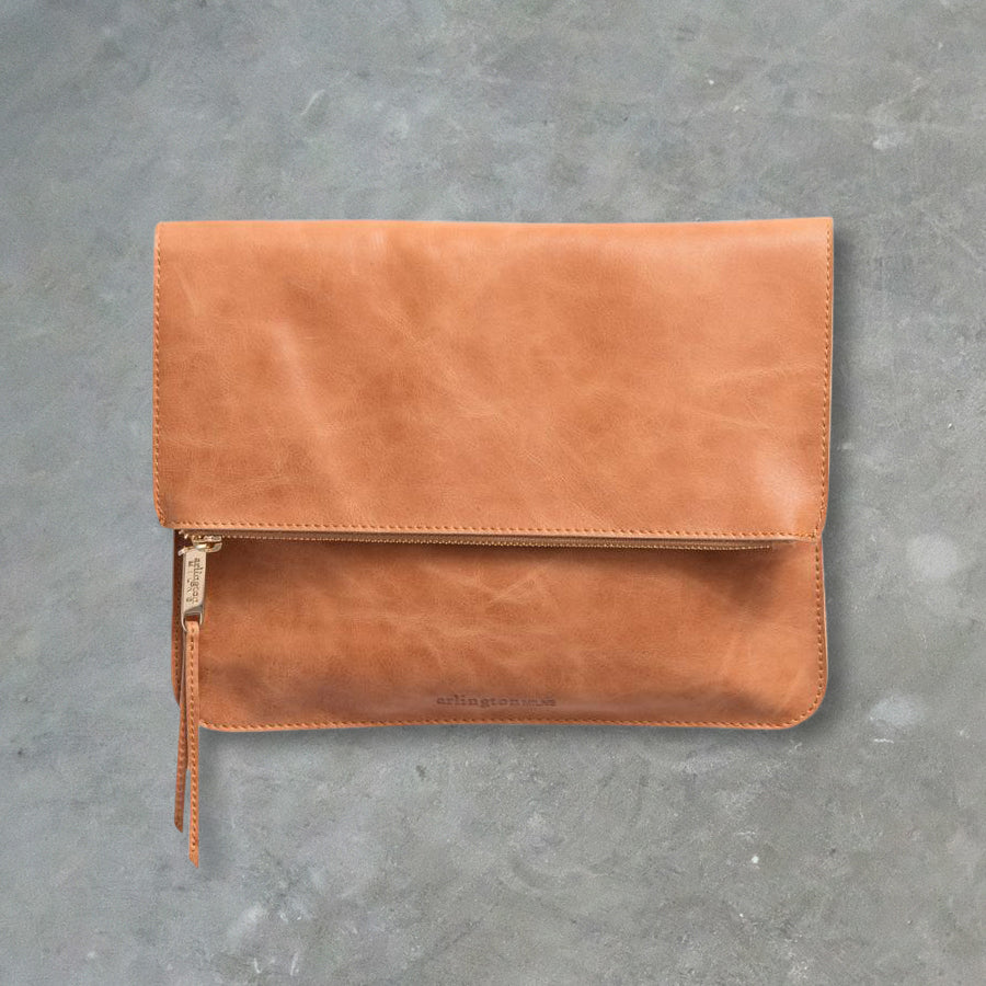 Arlington Milne Ella Fold Over, Vintage Tan