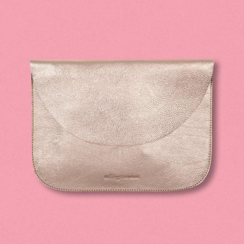 Arlington Milne Ella Pouch Large, Rose Gold